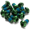 Reverse Disc brake screws green